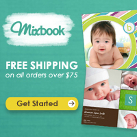 Get free shipping on orders over $75 at Mixbook