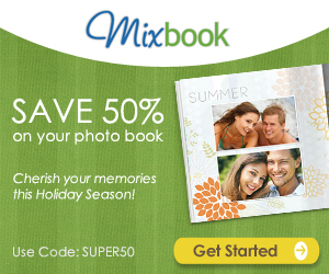 Save 50% on your next photo book!