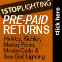 Free Returns at 1STOPLighting.com