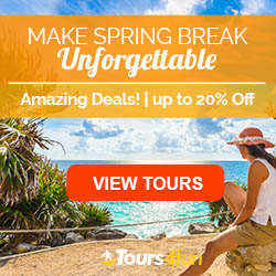 Make Spring Break Unforgettable this year by planning a dream vacation with up to 20% OFF at Tours4fun.com!