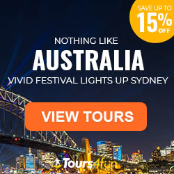 See The Vivid Festival Light Up Sydney with 15% Off Trips to Australia