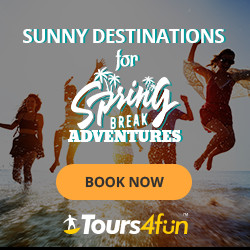Spring Break Tours! - Up to 15% off through 3/8 at Tours4fun.com!