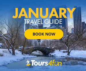Great Deals on best selling tours around the world at Tours4Fun.com through January 28, 2017!