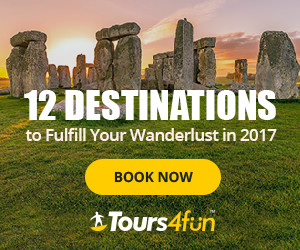 Best places to fulfill your wanderlust in 2017: Portugal, Iceland, New Zealand & Australia, Croatia, Niagara Falls, Grand Canyon, Rockies, Peru, etc... through January 28, 2017!
