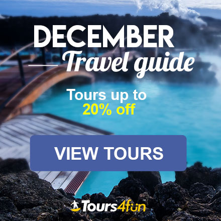 The December Travel Guide is here! Maximize your Holiday Adventures with up to 20% off trips at Tours4Fun.com!