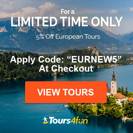 Discover our newest and most popular European tours from across the region and get 5% off featured tours with code: EURNEW5 only at Tours4fun!