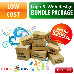 Low Cost Logo & Web design Packages - Only for $299