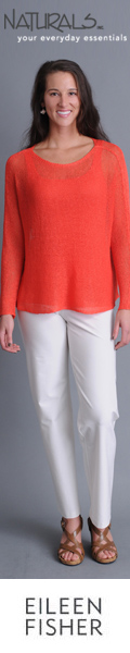 Eileen Fisher apparel at Naturals: flattering fit, elegant styles.