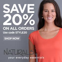 Save 20% At Naturals Inc, Code STYLE20