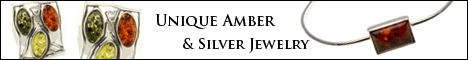 Amber and Silver jewelry