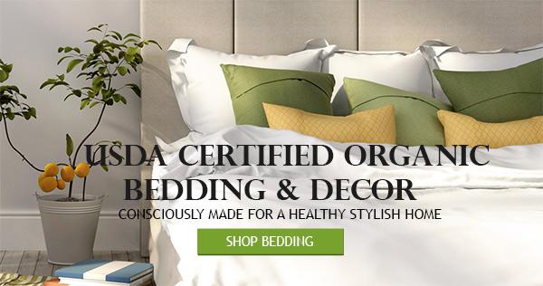 USDA Certified Organic Bedding and Decor