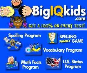 BigIQkids.com - Get a 100% on Every Spelling Test