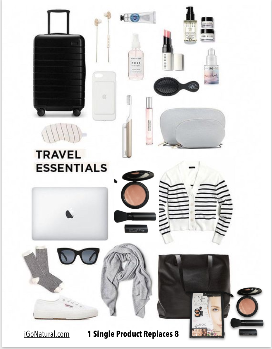 Go-Natural® The All-In-One Cosmetic®  Travel Kit