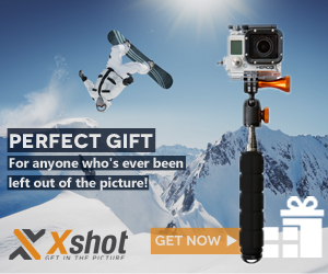 XShot extender for photo and GoPro fans
