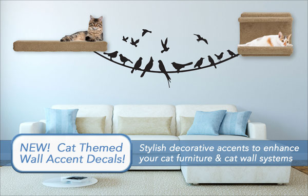 Cat Themed Wall Accent Decals