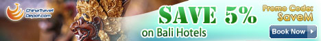 Save 5% on Bali Hotels