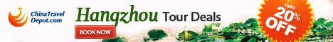 20%OFF for Hangzhou Tours with ChinaTravelDepot.com