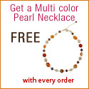 Get a Multi Color Pearl Necklace - FREE with every order on Katarina.com