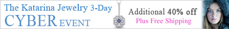 Best Cyber Monday Jewelry Deals from Katarina.com- 40% Discount & FREE 2nd Day  Shipping