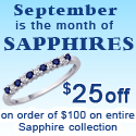 Katarina.com - $25.00 Off on $100.00 on all Sapphire collection-For the month of September