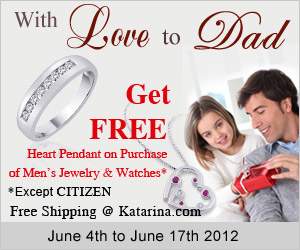 Celebrate Father's Day - With Love to Dad- Free Heart Pendant + Free Shipping