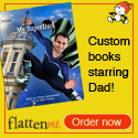 Let Dad know he is Super with his own Superhero book
