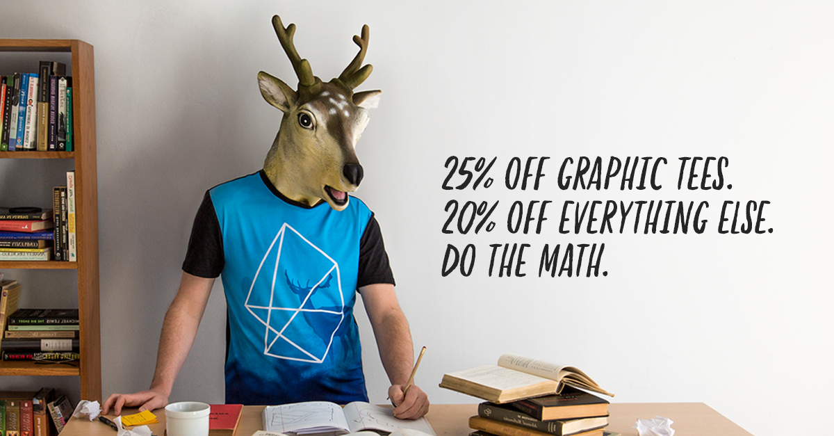 Get 20% off sitewide and 25% off Graphic Tees