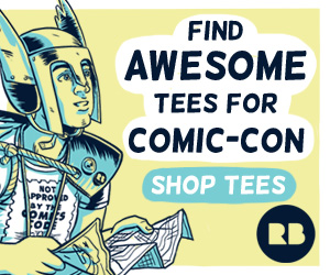 rb cc sd affiliate 1 Coupon code for 10% off tees at RedBubble, just in time for Comic Con