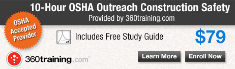 OSHA Outreach 10 Hour Construction Safety Training by 360training.com