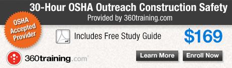 OSHA Outreach 30 Hour Construction Safety Training by 360training.com