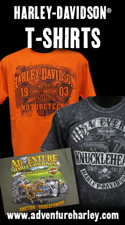Shop Adventure Harley-Davidson T-Shirts