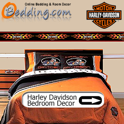 Harley Davidson Bedding & Wall Decorations