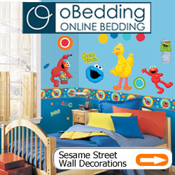 Sesame Street & Elmo Bedding and Wall Decorations