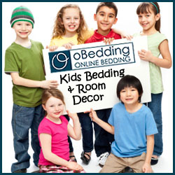 Kids bedding, wall accents and room decor for boys and girls at oBedding.com