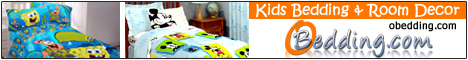 Boys bedding, girls bedding, wall accents and room decor in favorite TV & movie character themes at oBedding.com.