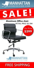 Modern Mid Century Classic Aluminum Group Style Softpad Management Chair