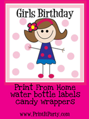 Girls Birthday Party Printables