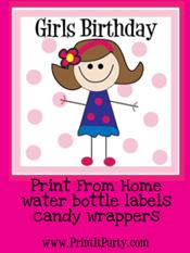Girls Birthday Party Printables