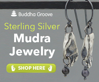 Silver and Pearl Mudra Earrings