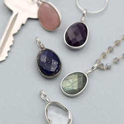 Gemstone Healing Charm Pendants