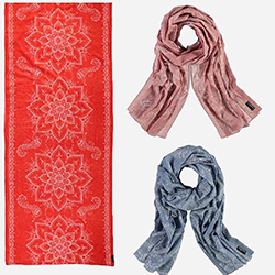 Elegant Lotus Mandala Cotton Scarves