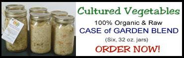 Cultured Vegetables - Case of Garden Blends (Six, 32 oz. jars) - BUY NOW!