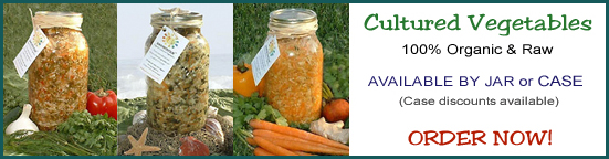 Cultured Vegetables - 100% Organic and Raw - BUY NOW!