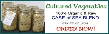 Cultured Vegetables - Case of Sea Blend (Six, 32 oz. jars) - BUY NOW!