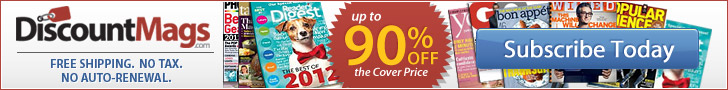 Special Offer! Save 10% on Magazine Subscriptions at DiscountMags.com!