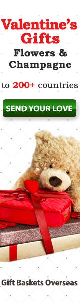 send valentine's gifts overseas