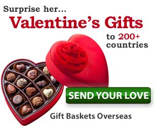 send valentine's gifts overseas