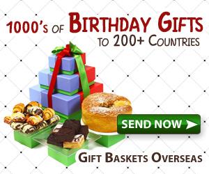 send birthday gifts overseas