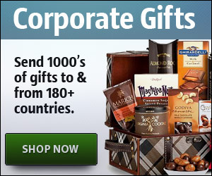 Corporate Gifts Internationally to Over 180+ Countries