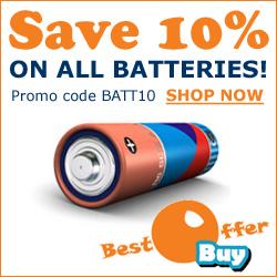 Save 10% On Batteries At BestOfferBuy.com